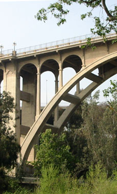 The Colorado Street Bridge in Pasadena, CA
