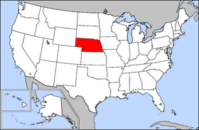Map of the U.S. with Nebraska highlighted