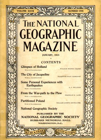 Cover of January,  National Geographic