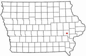 Location of Iowa City, Iowa