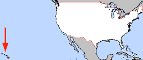 Map of the U.S. with Hawaii highlighted