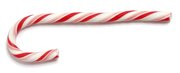 Candy canes are a popular Christmas treat, and may double as a decoration or Christmas ornament