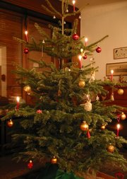 Christmas tree in a German home
