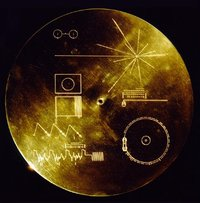 This image shows the protective cover of Voyager's golden record.
