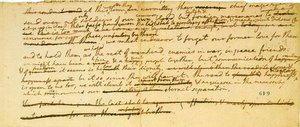 Fragment of an early draft of the Declaration